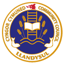 Badge of the Cyngor Cymuned Llandysul Community Council
